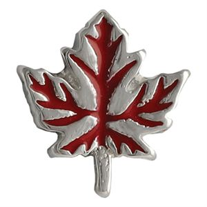 Picture of Red Fall Leaf Charm